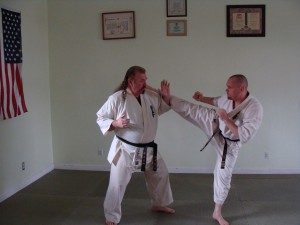 Sensei Mike and Hanshi Fred Buck